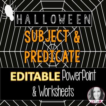 Halloween Themed Intro to Subject & Predicate- Practice &