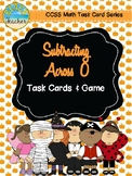 Halloween Themed Subtracting Across 0 Task Cards & Game 2.NBT.5
