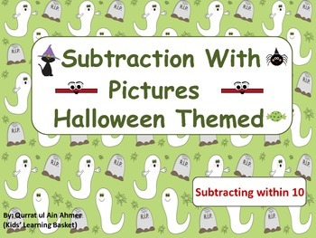 Halloween Themed Subtraction with Pictures (within 10):