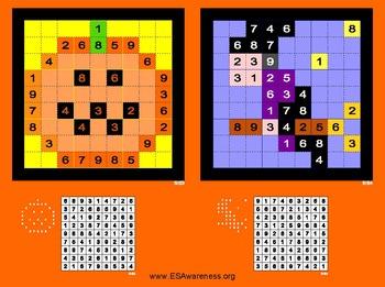 Halloween Themed Sudoku Activities
