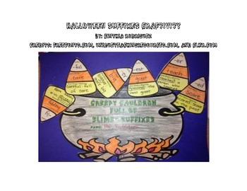 Halloween Themed Suffixes Craftivity