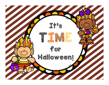 TELLING TIME . . . .    Halloween Themed Task Cards