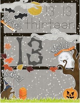 Halloween-Themed Teen Number Recognition 11-20 Math Center