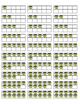 Halloween Themed Ten Base Labels for Math Stations