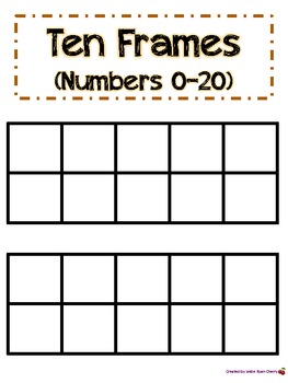 Halloween-Themed Ten Frame (1-20) - Aligned with Common Core Standards