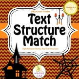 Halloween Themed Text Structure Match