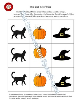 Halloween Themed Trial and Error Pass