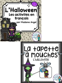 Halloween Themed Vocabulary BUNDLE in French