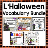 French Halloween Themed Vocabulary BUNDLE