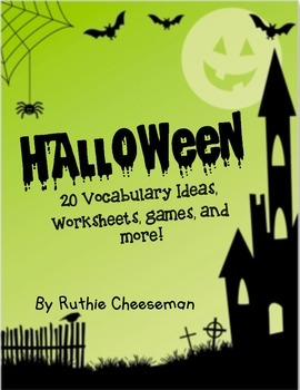 Halloween Themed Vocabulary Games