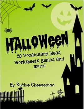 Halloween Themed Vocabulary Games