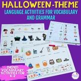 Halloween Themed Vocabulary & Grammar Activities