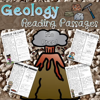 Geology Reading Passages
