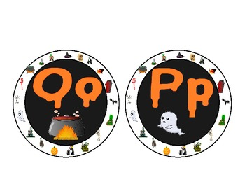 Halloween Themed Word Wall Alphabet :