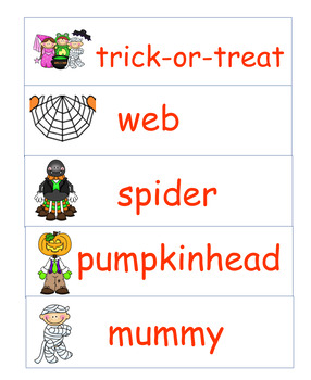 Halloween Word Wall Words