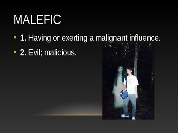 Halloween Themed Word of the Day for October
