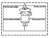 Halloween Themed WordForm.ExpandedForm.StandardForm Graphi