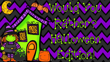 "PowerPoint Halloween Themed - ""Would You Rather"" slideshow"
