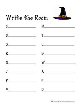 Halloween Themed- Write the Room