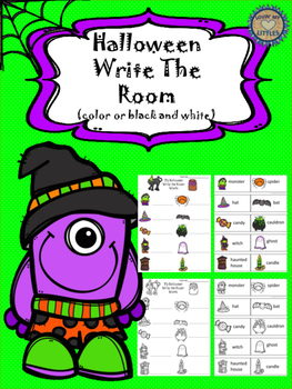 Halloween Themed Write the Room