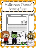 Halloween Themed Writing Paper | October Writing Paper