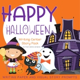 Halloween Themed Writing Paper and Story Prompts