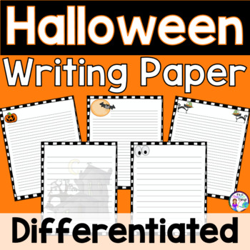 Halloween-Themed Writing Paper with Four Versions