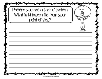 Halloween Writing Prompts & Response Sheets