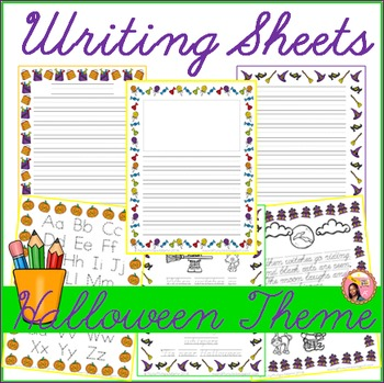 Halloween Themed Writing Sheets