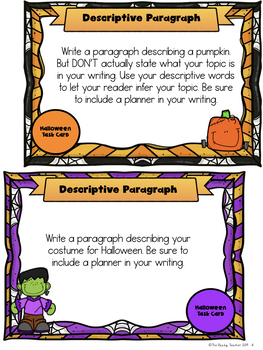 Halloween Themed Writing Tasks