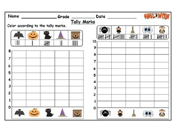 Halloween Themed counting worksheets: