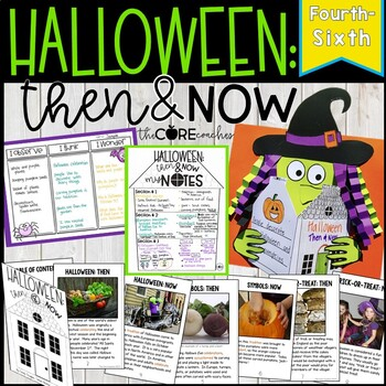 Halloween: Then & Now Close Reading Lesson Plans 4-6