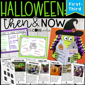 Halloween: Then and Now- Reading, Writing, and Art with a Printable Text (1-3)