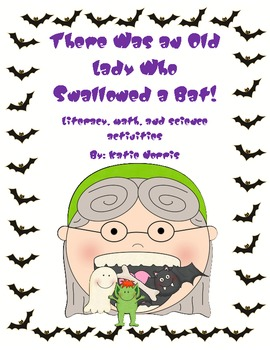 Halloween-There Was an Old Lady Who Swallowed a Bat! Book Activties