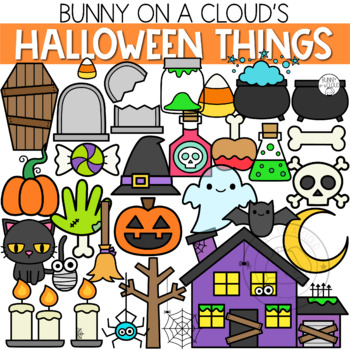 Halloween Things Clipart By Bunny On A Cloud By Bunny On A Cloud