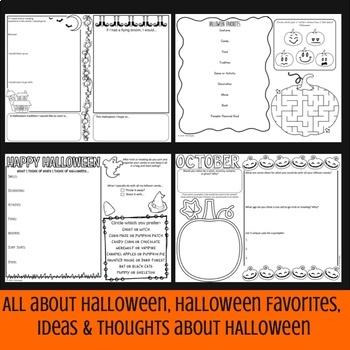 Halloween Think Book Student Journal