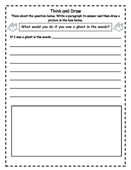 Halloween Think and Draw - Freebie