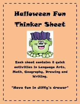 Halloween Thinker Sheet