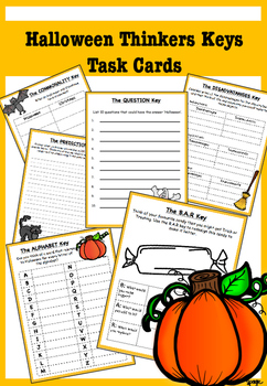 Halloween Thinkers Keys Pack