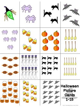 Halloween Practice with Numbers 1-15:  FREE