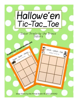Hallowe'en Tic-Tac-Toe
