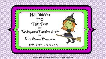 Numbers 0-10 Halloween Tic Tac Toe Game