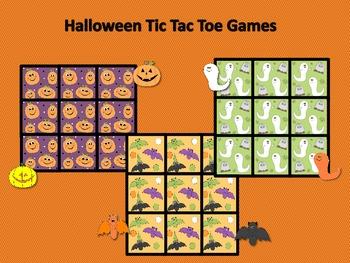 Halloween Tic Tac Toe Games