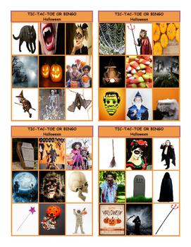 Halloween Tic-Tac-Toe or Bingo Board Game