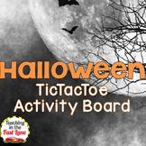 Halloween TicTacToe Choice Board