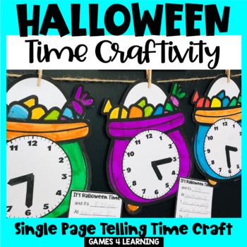 Halloween Time Craftivity -  Math Activity