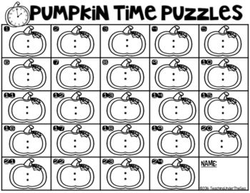 Halloween Time Puzzles *FREEBIE*