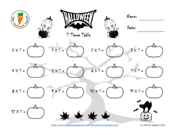 Halloween Times Tables