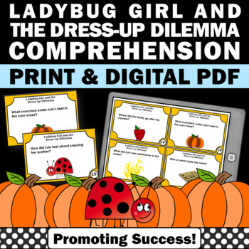 Halloween Book Companion Ladybug Girl and the Dress-Up Dilemma, Literacy Centers