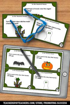 Halloween Book Companion, In the Haunted House, Halloween Literacy Activities